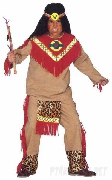 Dětský karnevalový kostým Indián – Ptákoviny Pelhřimov 217e32472c
