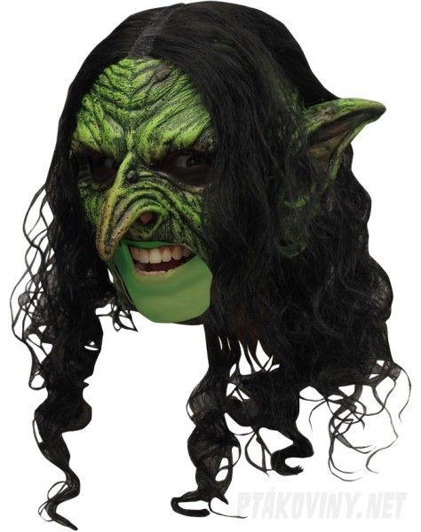 9be60783f Maska čarodějnice s vlasy na halloween – Ptákoviny Pelhřimov